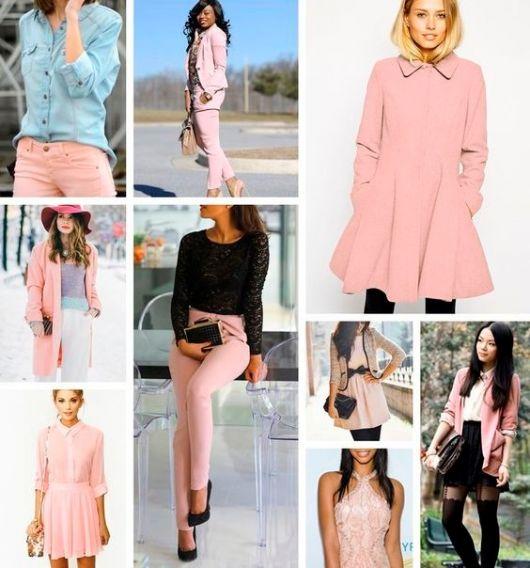 cores da moda rosa claro