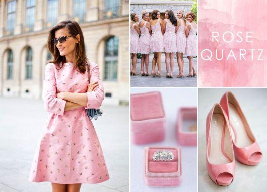 cores da moda rose quartz