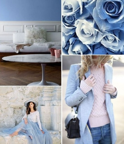 cores da moda azul claro