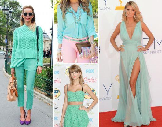 cores da moda azul esverdeado