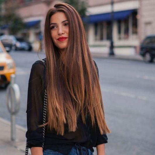 cabelo liso com volume
