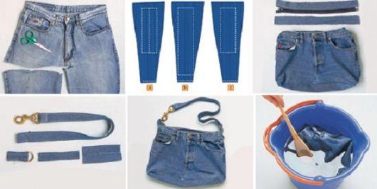 dicas de como fazer bolsa jeans