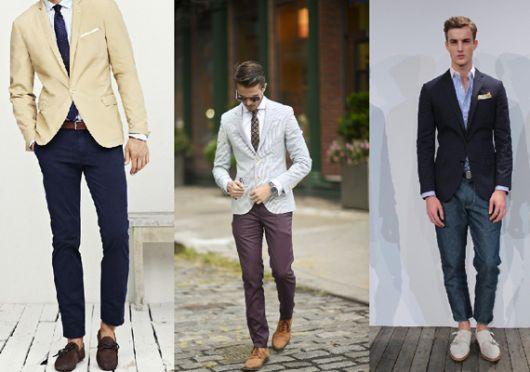 esporte fino masculino com calça chino