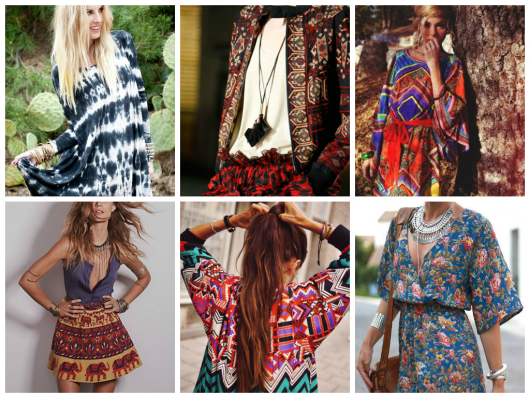 estilo boho looks coloridos
