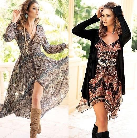 estilo boho vestidos leves