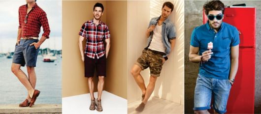 estilo casual masculino bermuda verão