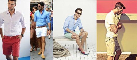 estilo casual masculino bermuda