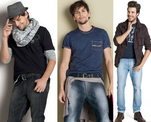 estilo casual masculino calça jeans
