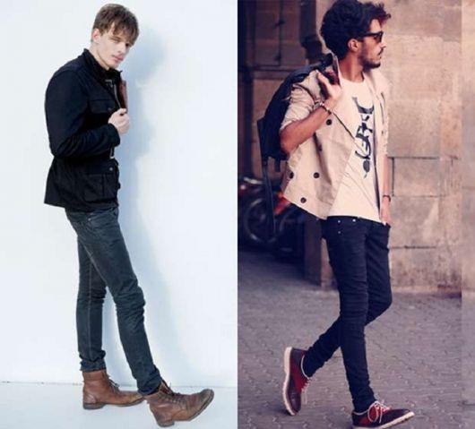 estilo casual masculino calça skinny
