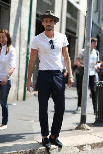 estilo casual masculino camiseta lisa