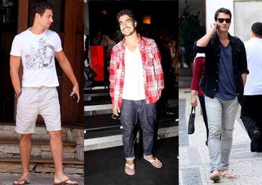 estilo casual masculino chinelo