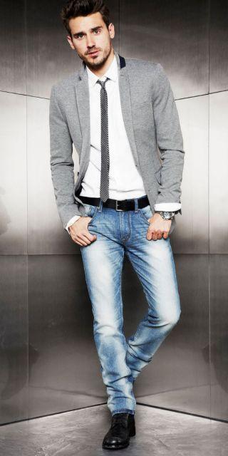 estilo casual masculino slim