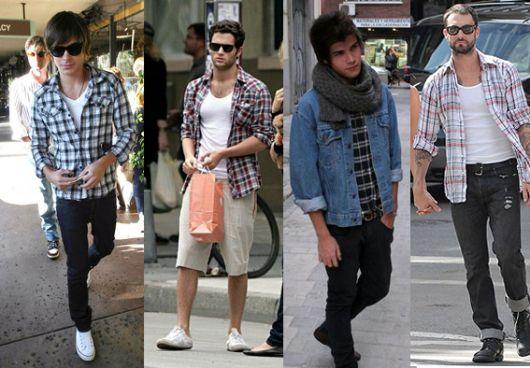 estilo casual masculino xadrez