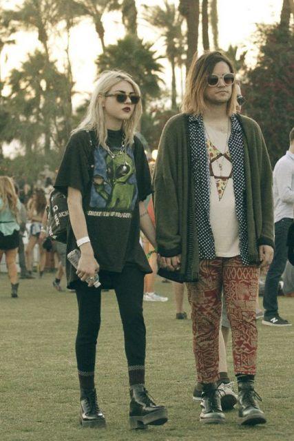 estilo grunge filha cobain
