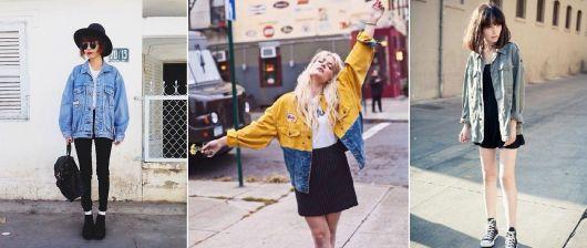 estilo grunge jaqueta jeans