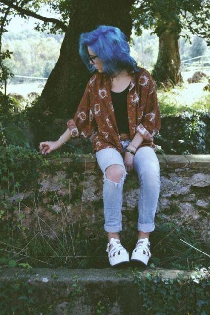 estilo grunge roupas