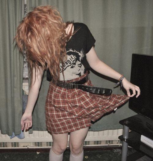 estilo grunge saia xadrez