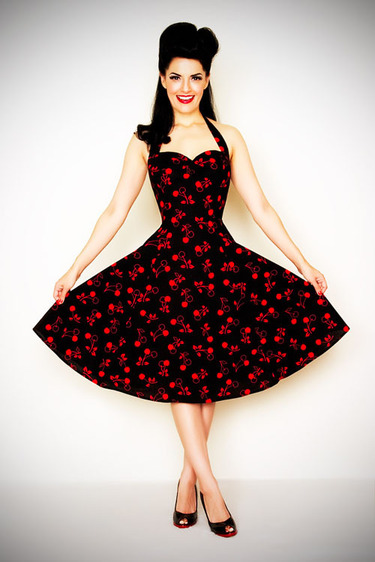 vestido pin up com estampa floral