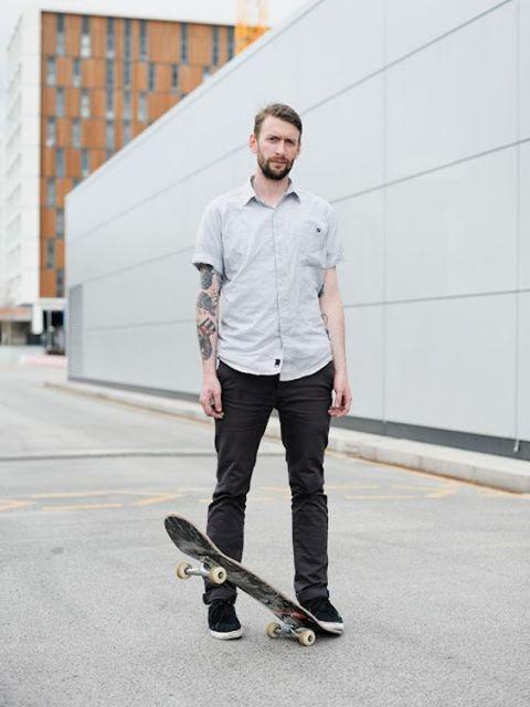 estilo skatista camisa