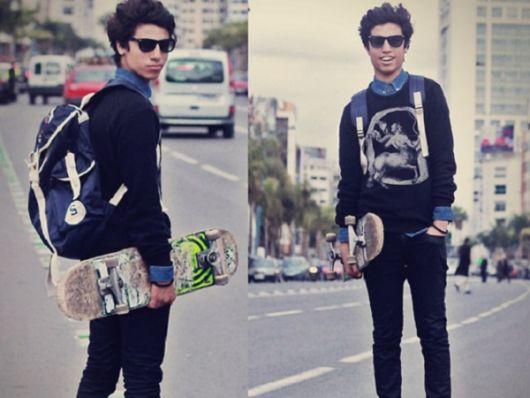 estilo skatista roupas mais justas