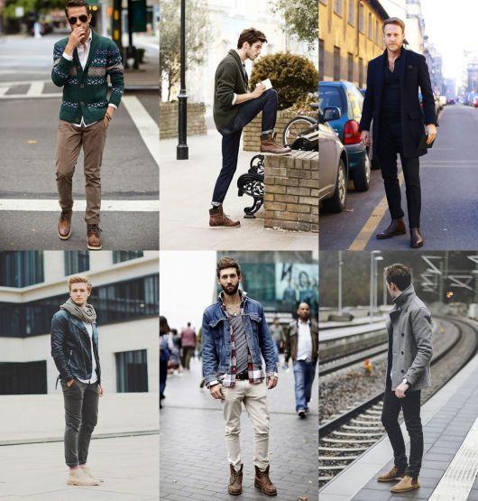 estilos de botas masculinas