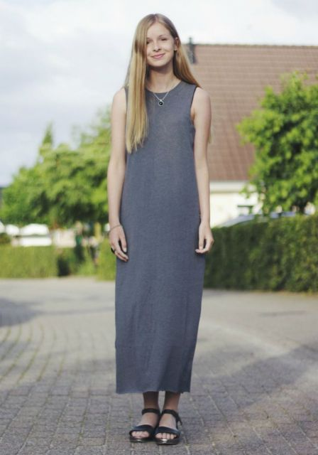 flatform com vestido longo