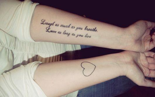 exemplo de frases para tatuagem de amor