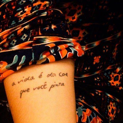 exemplo de frases para tatuagem em português