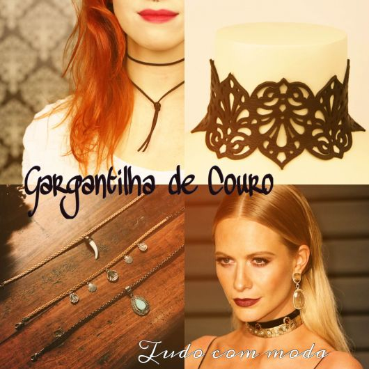 GARGANTILHA DE COURO: 30 Modelos e Como Fazer!