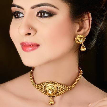 gargantilha de ouro modelo oriental