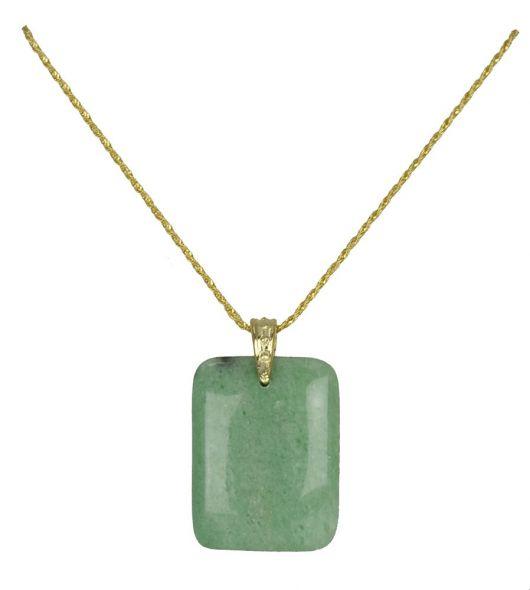 gargantilha de ouro com pedra verde natural