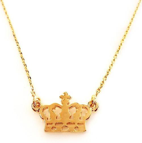 gargantilha de ouro coroa de rainha