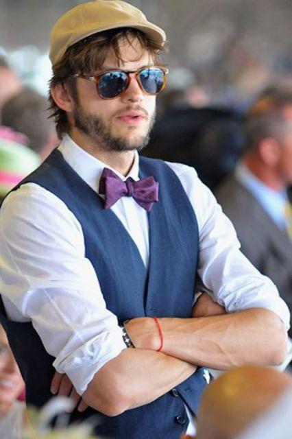 gravata borboleta e colete como usar