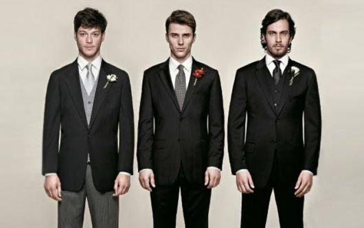 gravata clássica e larga para padrinhos