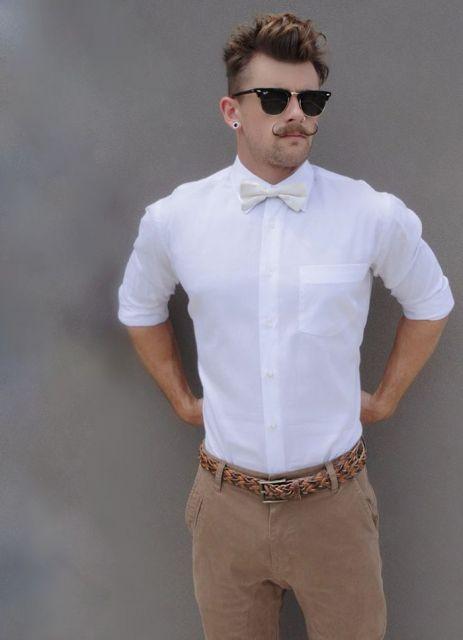 gravata mesma cor da camisa