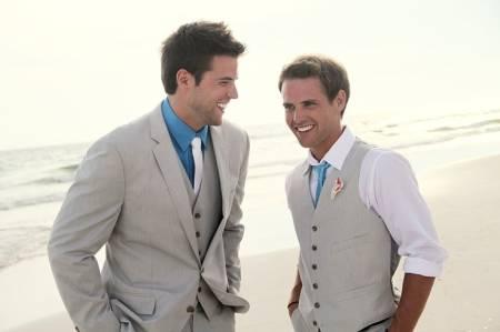 gravatas para padrinhos azul e branco