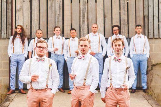 gravatas para padrinhos casamento moderno