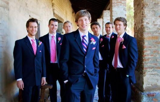 gravatas para padrinhos colorida e estampada