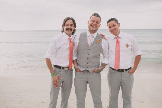 gravatas para padrinhos cores diferentes