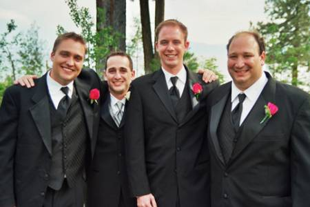 gravatas para padrinhos preto