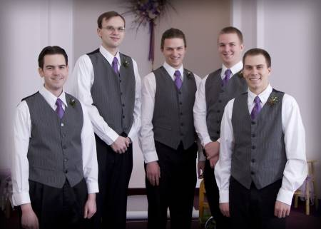 gravatas para padrinhos roxo