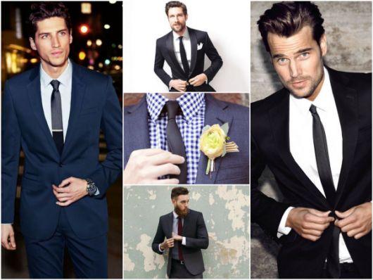 gravatas para padrinhos slim