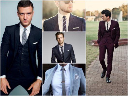 gravatas slim para casamento