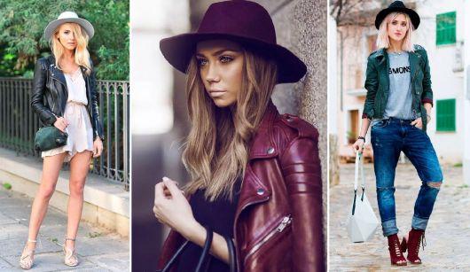 Como usar jaqueta de couro: Dicas e modelos maravilhosos