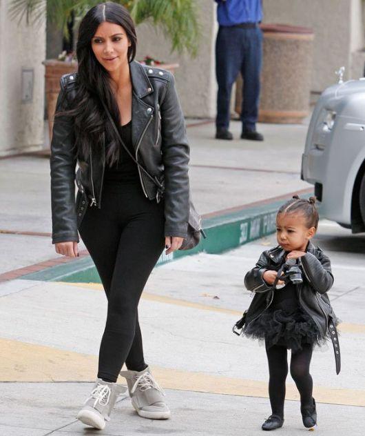 jaqueta de couro kim kardashian