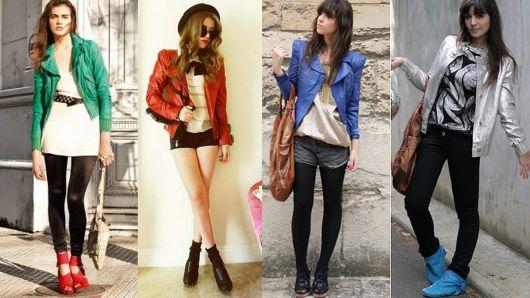 jaqueta de couro 12 coloridas
