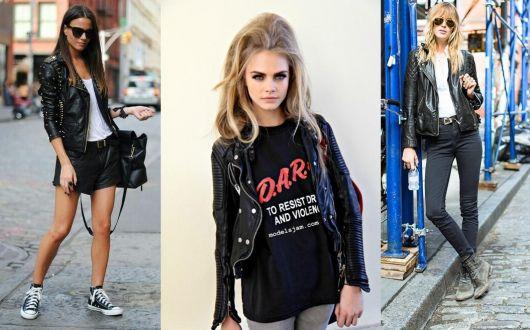 jaqueta de couro 19 estilo rocker