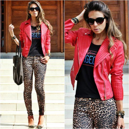 jaqueta de couro 24 animal print