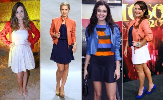 jaqueta de couro color