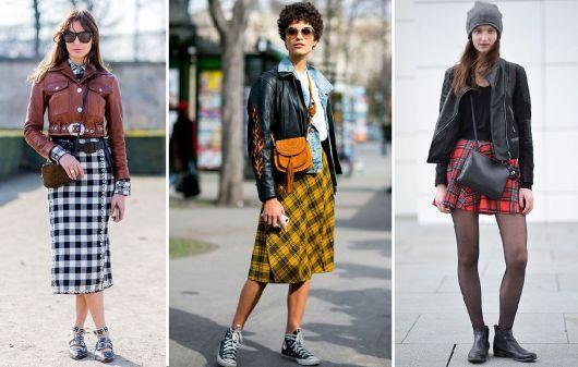 jaqueta de couro com xadrez